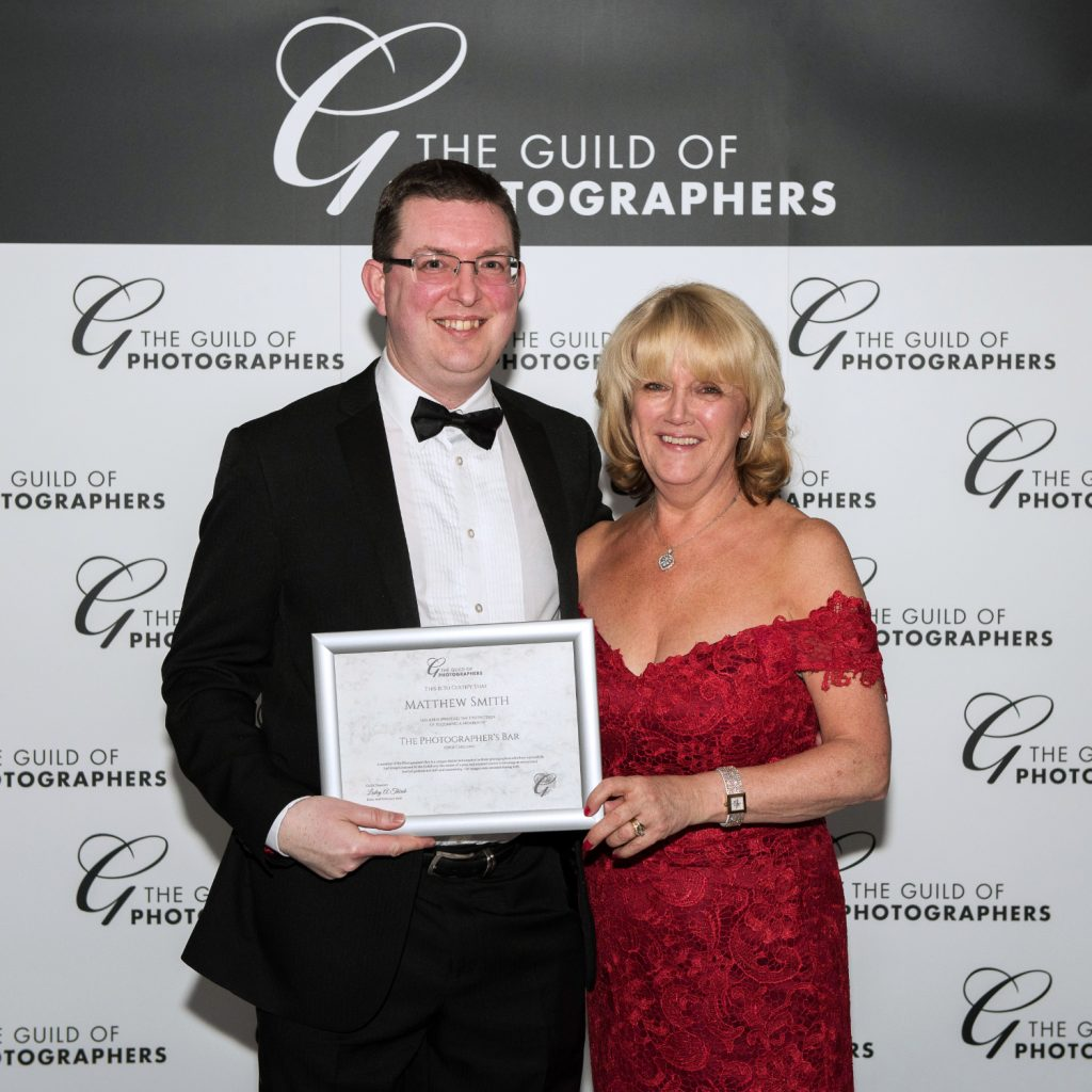 Receiving my Photographer's Bar award from Guild of Photographers Director Leslie Thirsk